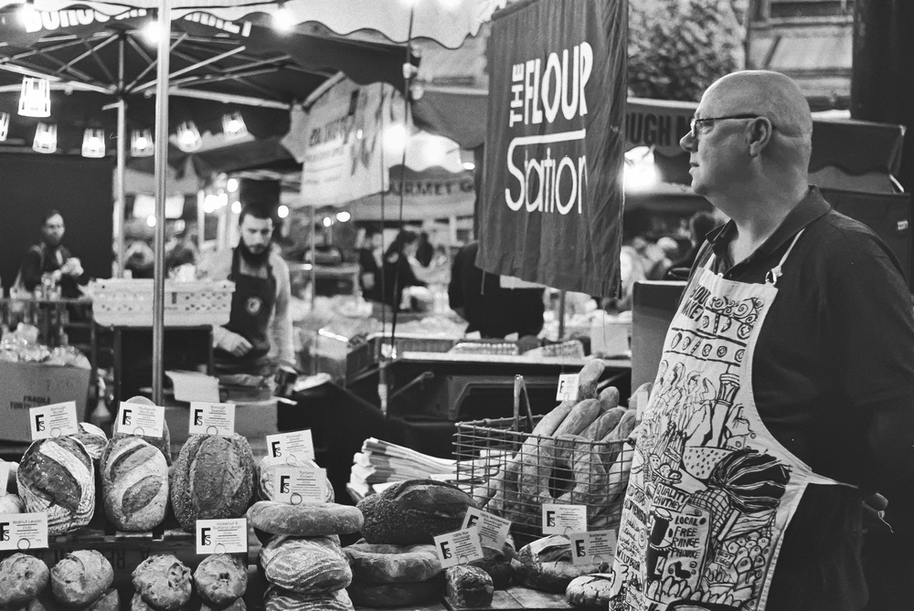 First outing with the 1964 M2 to Borough Market with a roll of Tri-X Professional loaded. This was taken with the 1965 f/2.8 50mm Elmar that came with the M2