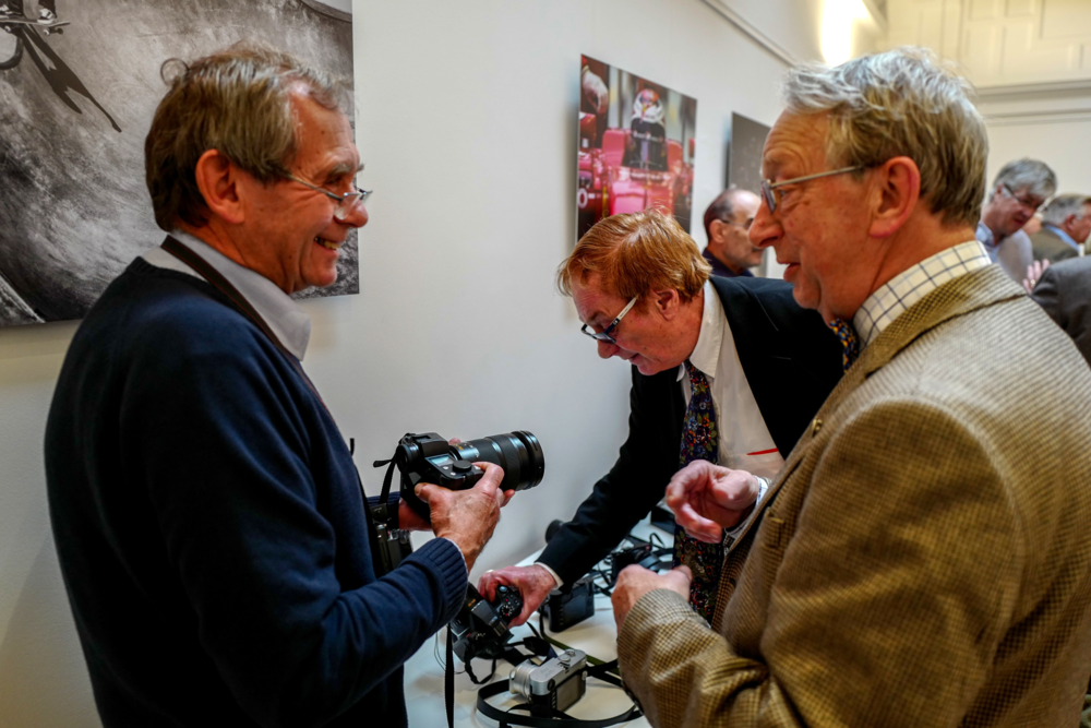 Boys and their toys: Samples of Leica's current camera lineup get an outing
