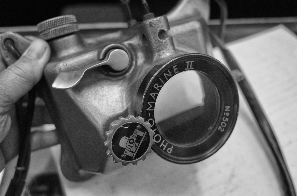 R.G.Lewis's 1950s Photo-Marine II was made for the Leica screw-mount camera and cost £80, currently owned by MacFilos