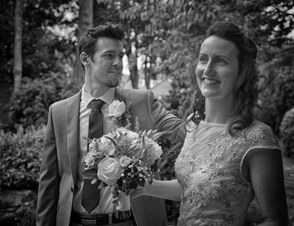 The Q even loves weddings: The author's nephew Adam ties the knot with his new wife Sam, July in York