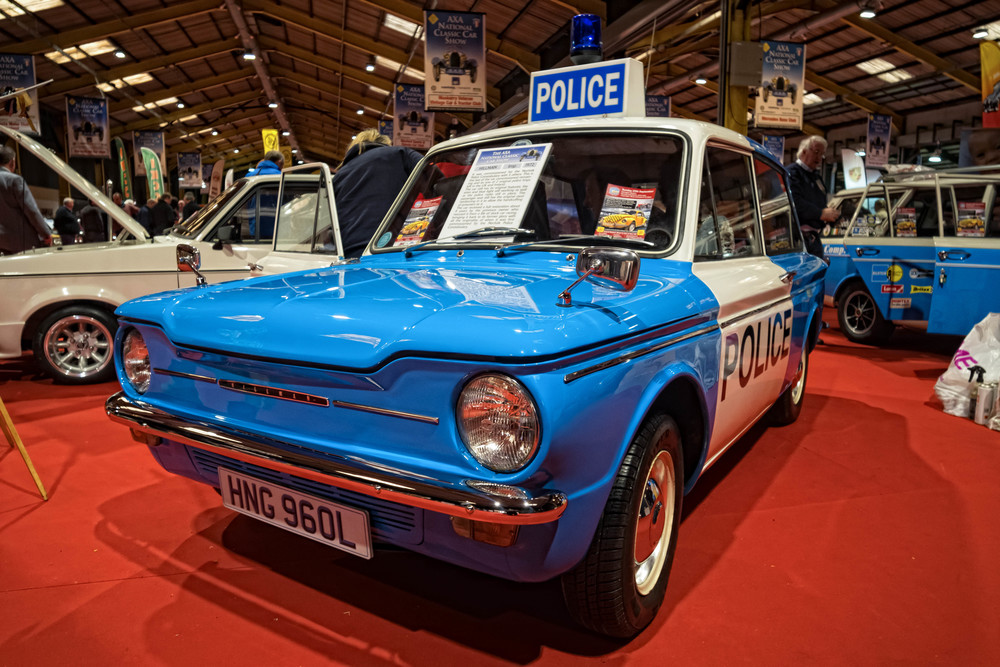 Hillman Imp panda car from Norfolk, surely the pussy cat of police cars (Photo William Fagan)