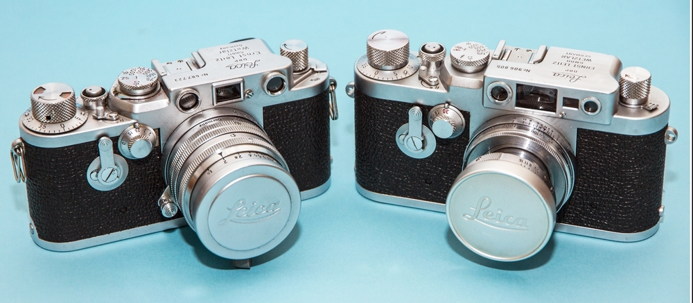 My current Leica IIIf and IIIg models. I was disappointed in the IIIg when it arrived unexpectedly, even though it was the latest model. But I came to appreciate it nearly fifty years later.