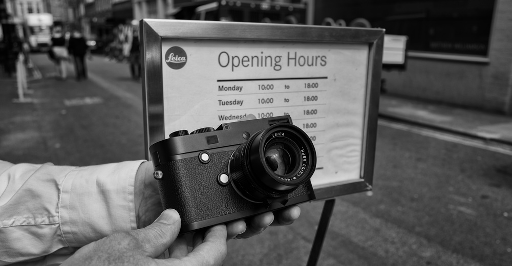 Opening all hours, but Leica's cameras and lenses are no longer covered by the Passport accidental damage insurance. Nor will new cameras qualify for a free download of Adobe Lightroom