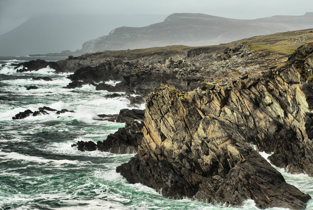 Waves and rocks, Achill Island. All photographs by William Fagan