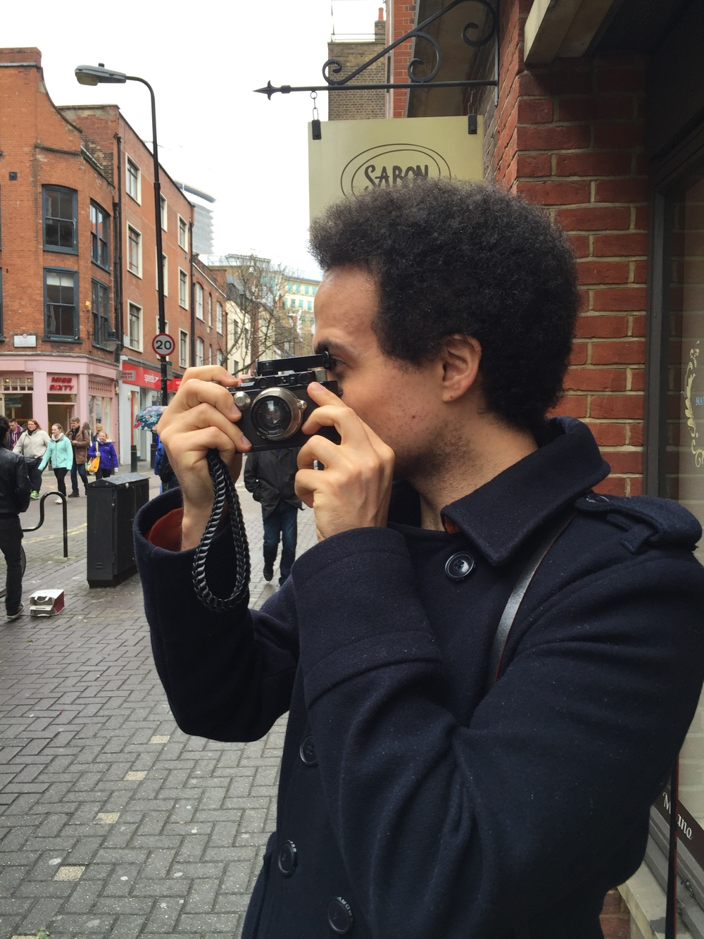 Adam takes a picture of me wielding the iPhone using the Leica's Winkelsucher. I wouldn't have known he was there, so discreet and crafty is the Leica III. Eat your heart out, Eric Kim: This is true wabi-sabi