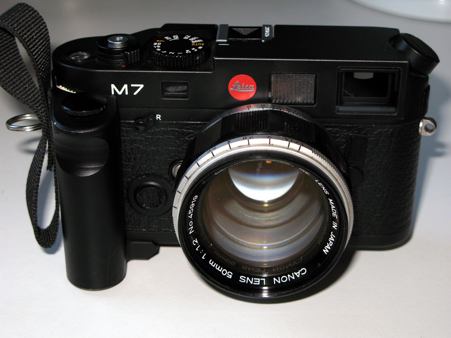 Leica M7 0.85  with Canon 50mm f/1.2 and Rapidgrip Sling