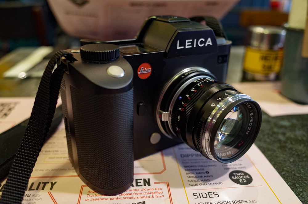 In addition to Leica's official M-Adapter T, seen here with a 50mm Zeiss Sonnar f/1.5 mounted, there is now a whole range of adapters to allow the Leica SL to work with a variety of lenses from most manufacturers. The new Canon EF mount has some electronic advantages.
