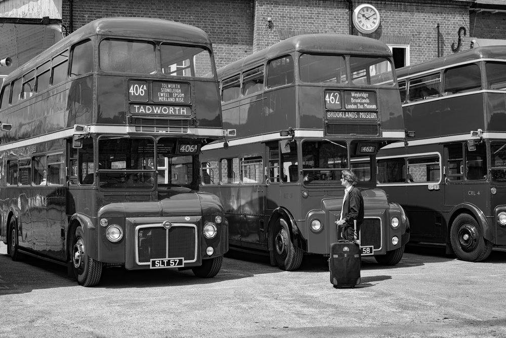 Three of the first Routemasters to enter service in 1954