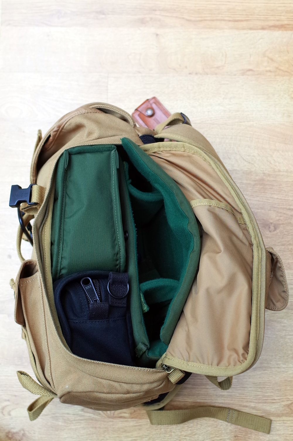 Dave rucksack, Domke and Hadley inserts