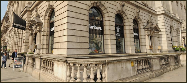 Farlows in Pall Mall: Country enthusiasts' department store in the midst of clubland—an unlikely spot for photographic bags