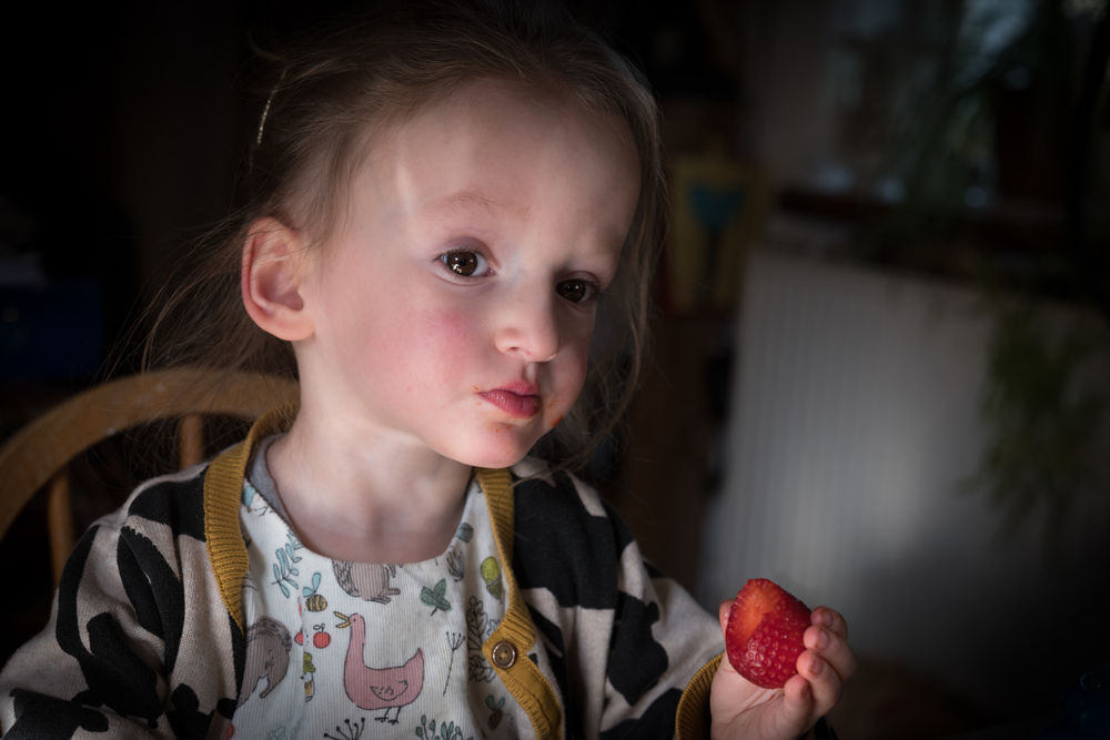 Strawberry time with Sarah and Duck. Leica SL with Leica 75mm APO Summicron