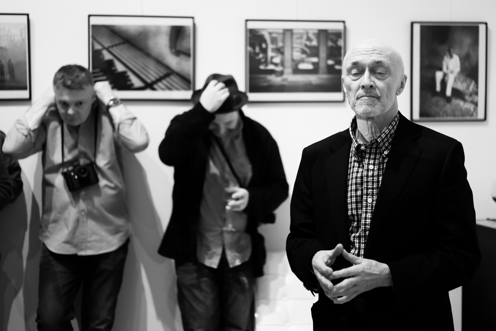 Hear No Evil, Speak No Evil, See No Evil with 35mm Summilux-M Asph f/1.4 FLE. Three of the four Luminaries of the Leica Meet Group at the book launch in the Leica Gallery in Mayfair Jan 2016 - Stephen Cosh, Gavin Mills, Olaf Willougby