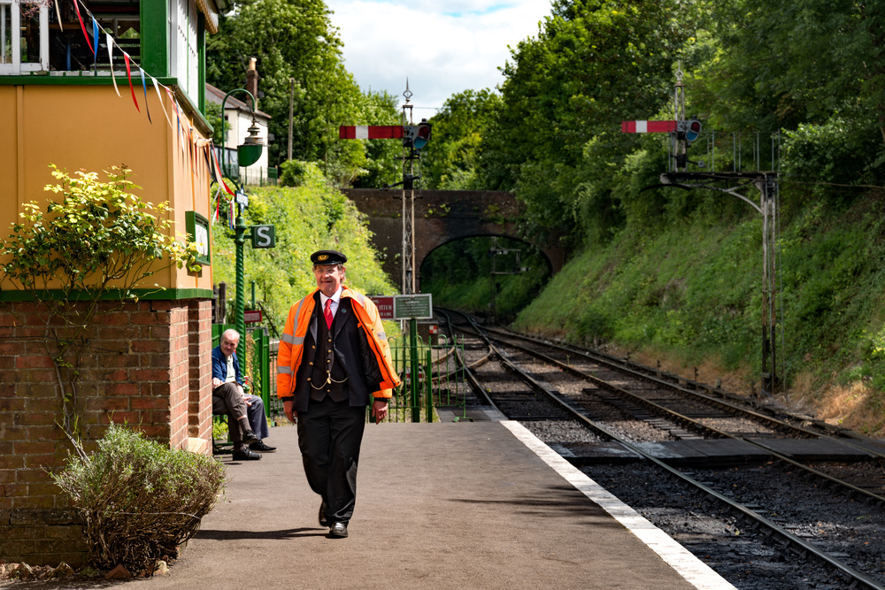 Every heritage railway in Britain is run by enthusiasts who devote their time and energy to their hobby. They love dressing up in period gear.
