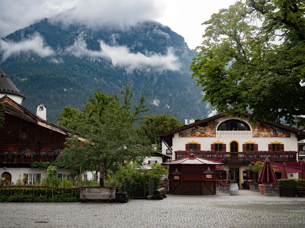 Beautiful Garmisch Partenkirchen at the foot of the mountains