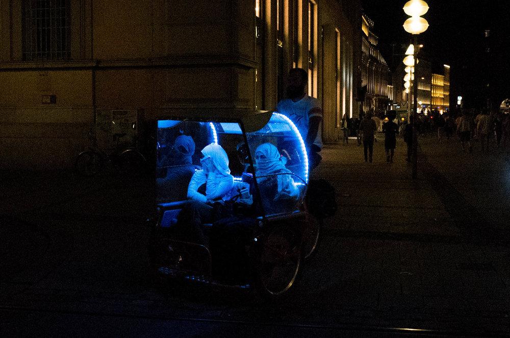 Dernier cri in the rickshaw at ISO 8000
