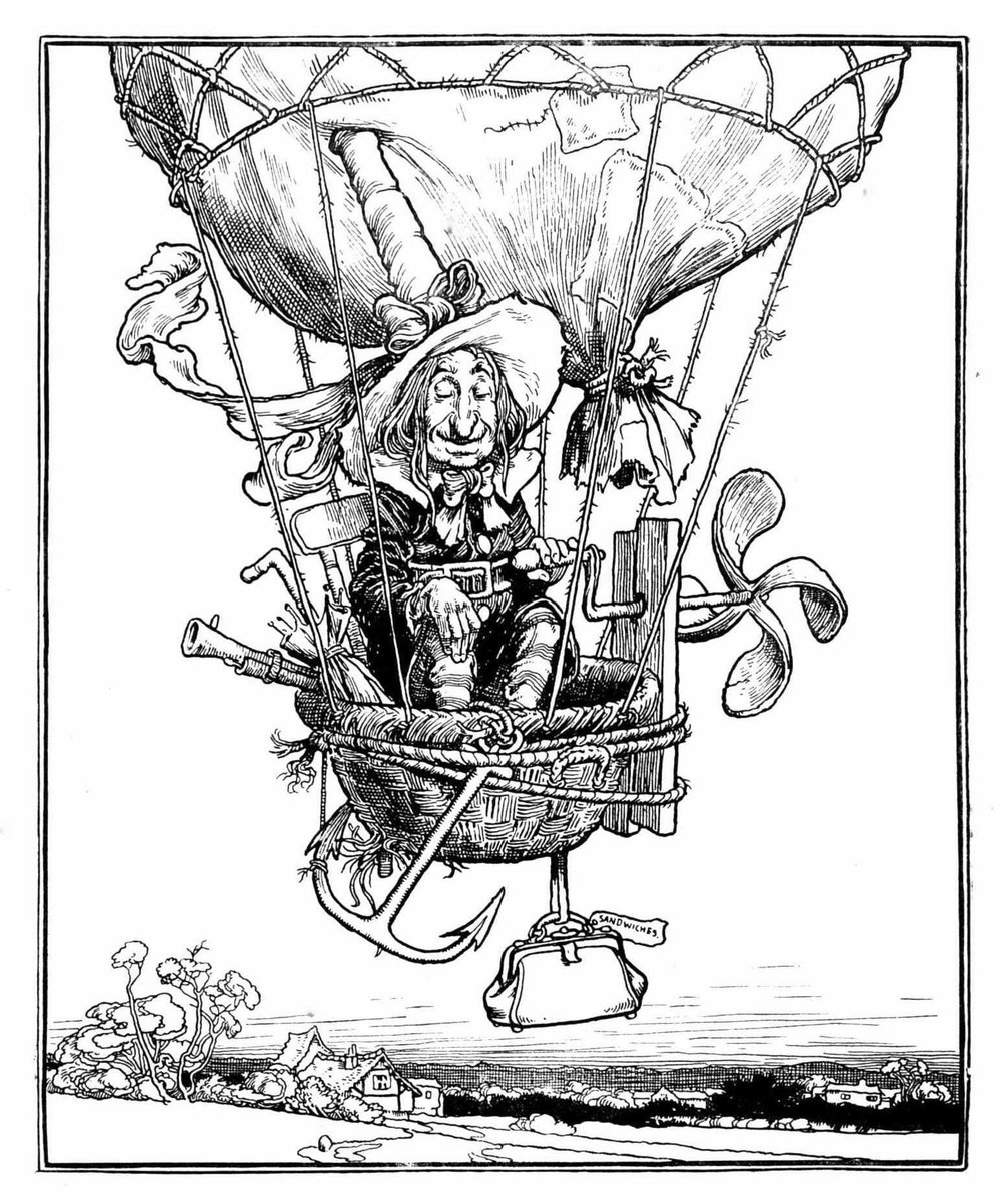 W.Heath Robinson, patron saint of universal battery chargers (Wiki Commons)
