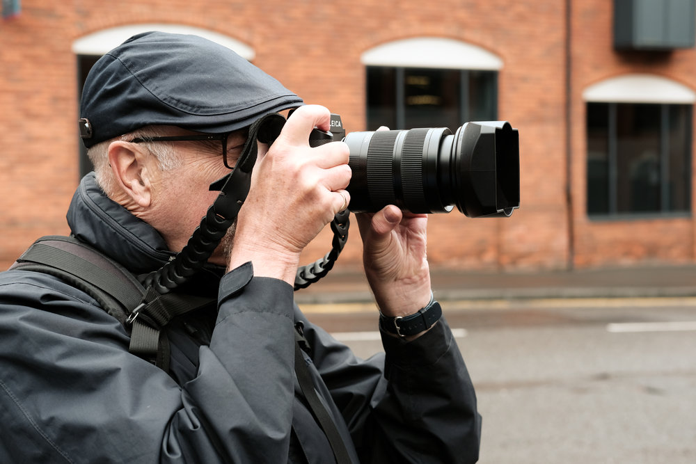 Editor Evans in super discreet mode with the SL and 24-90. You'd hardly know he was there (Photo Bill Palmer, Fuji X-Pro2)