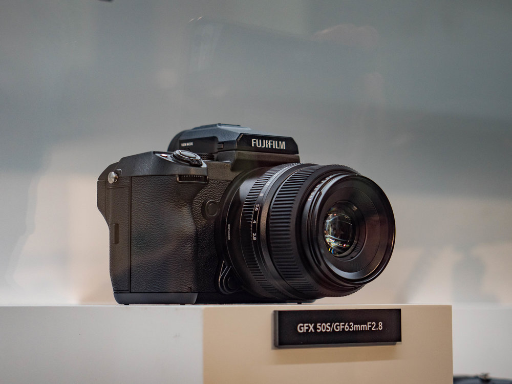 Through the glass darkly: No change to get my grubby fingers on the star of the show, the new Fuji medium-format GFX.