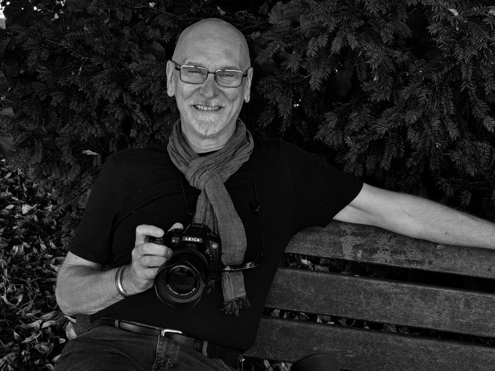 David Lewis-Baker and his Leica V-Lux (Photo Mike Evans)
