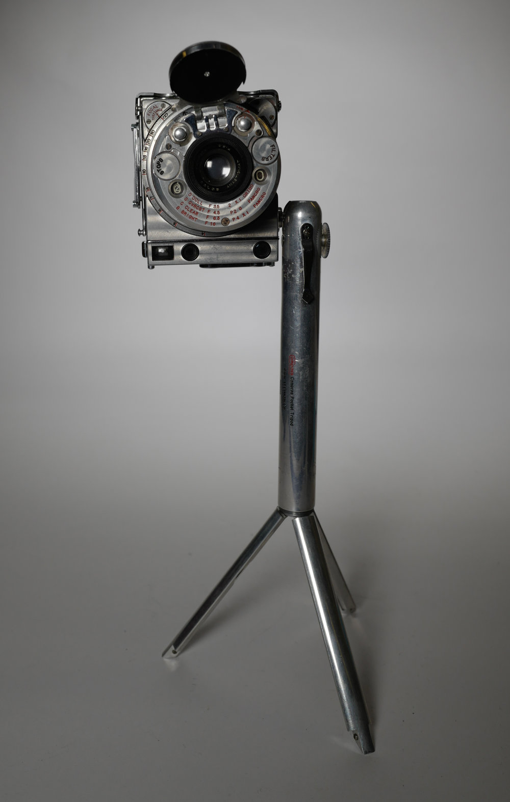 The LeCoultre Compass on its special mini tripod accessory