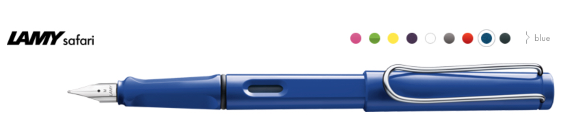 A big range of colours, a faultless steel nib in many guises and a price tag of around £15. You can't go wrong with the Lamy Safari.