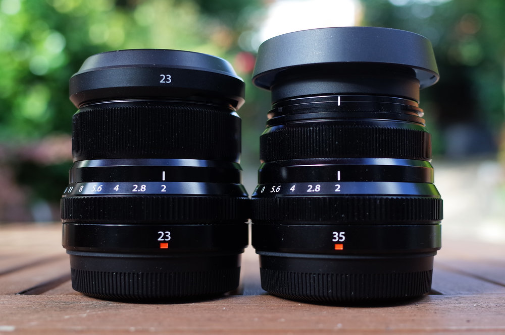 Peas from the same pod: 23mm and 35mm have the same genes and provide true 35mm and 50mm equivalents for Fuji shooters.