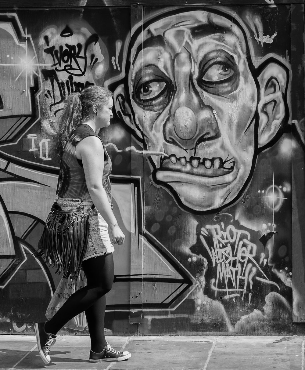Scary Faces, Brick Lane 2012 with the Leica Monochrom Mk.I, 50mm Summicron.