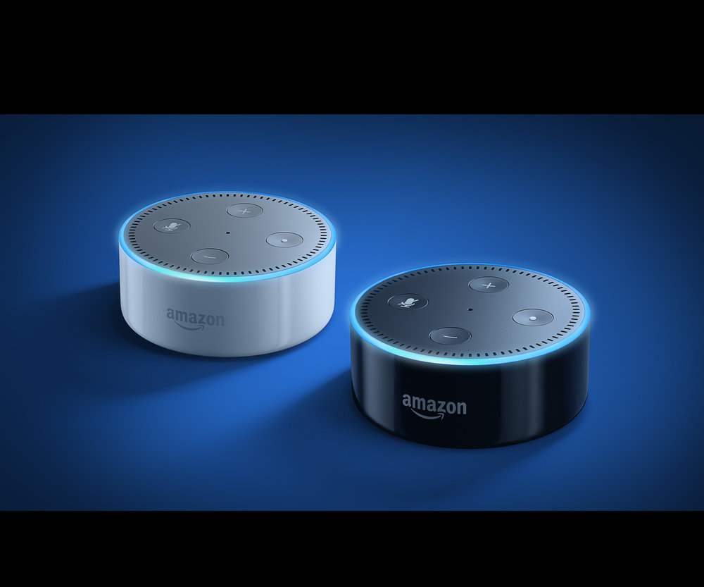 The £50 Echo Dot comes in black or white