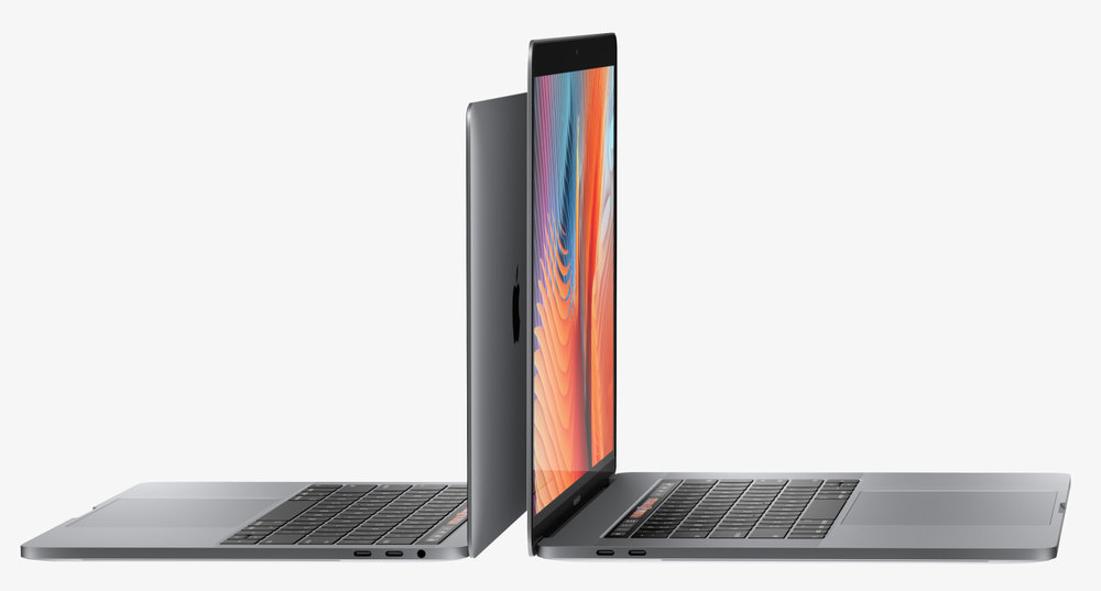 The new 13in and 15in models are thinner and lighter than their predecessors. The 13in weighs only 1.37kg, comparing favourably with the 0.92kg MacBook