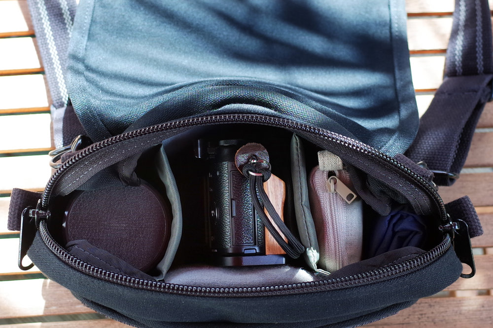 X100T goes travelling in the Domke F5XB bag