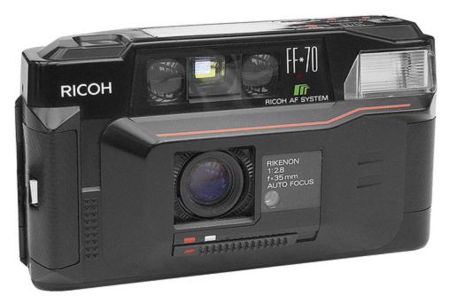 The Ricoh FF70, a great little camera. Photo by Alf Sigaro (Wiki Commons)