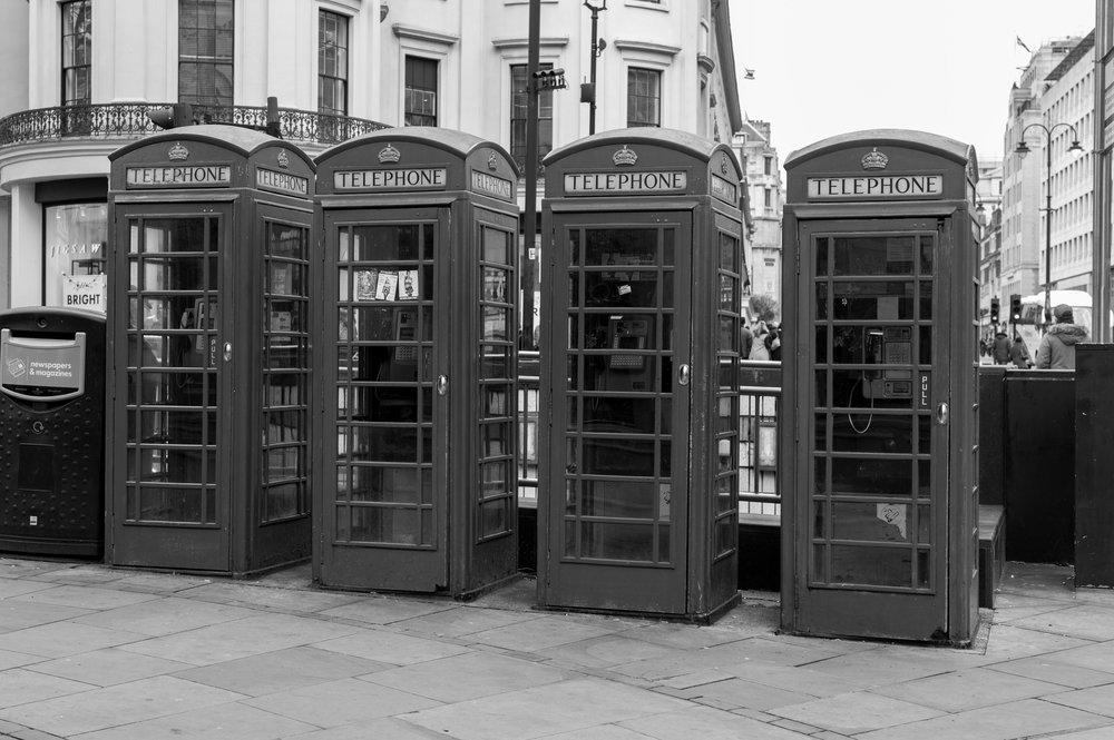 Traditional red telephone boxes, but you knew that anyway....
