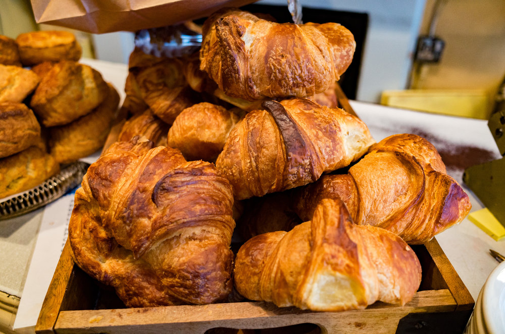 Chomp, chomp: Are these the largest, crispiest and most delicious croissants in London? My nose draws me inexorably forward, even as I emerge from Leicester Square station.