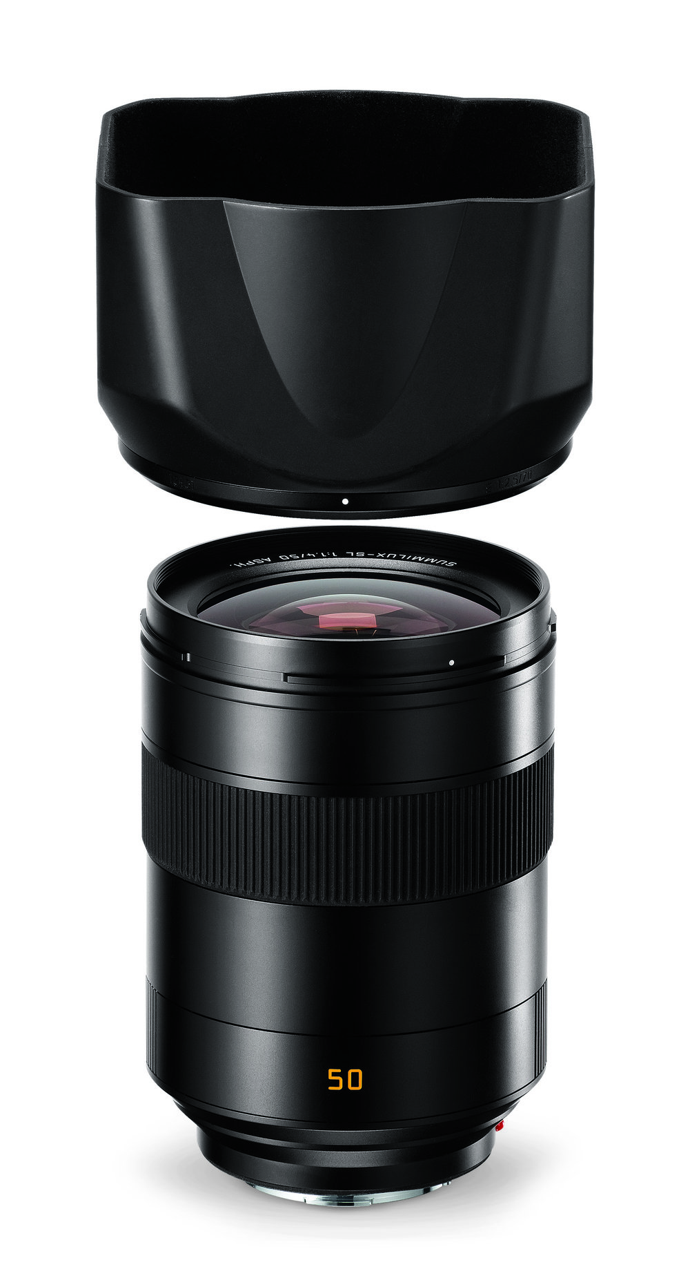 This is a large lens for a 50mm prime, especially when tricked out with the hood
