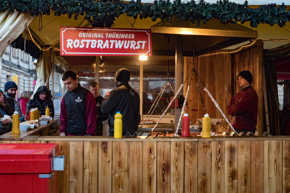 Food, food, more food and a glass of Glühwein