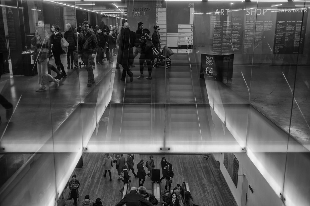 Indoor reflections at the Tate Modern