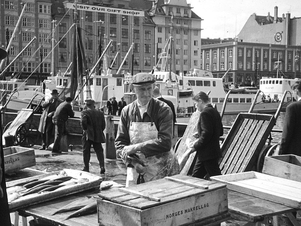 Bergen Quai, Norway, 1960s