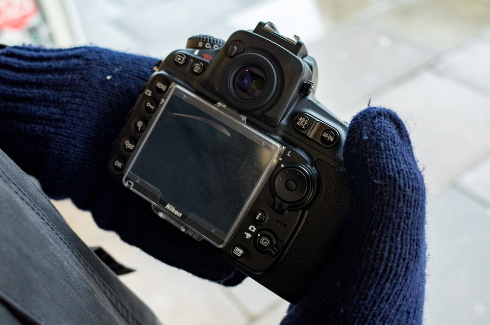 Above: The D810 has the grip for big hands but just look at those tiny buttons. The SL, in contrast, is a paragon of usability. Keep your hands warm all day and you won't miss a trick with this camera. The four big buttons can't be missed by the gloved digit and the simple menu system is unparalleled. The joystick is easy to use and the only control that can be fiddly is the on/off switch. It's significant, in comparison with the wordy D810, that the SL's on/off switch is the only one that tells you what it does. The rest is pure intuition.