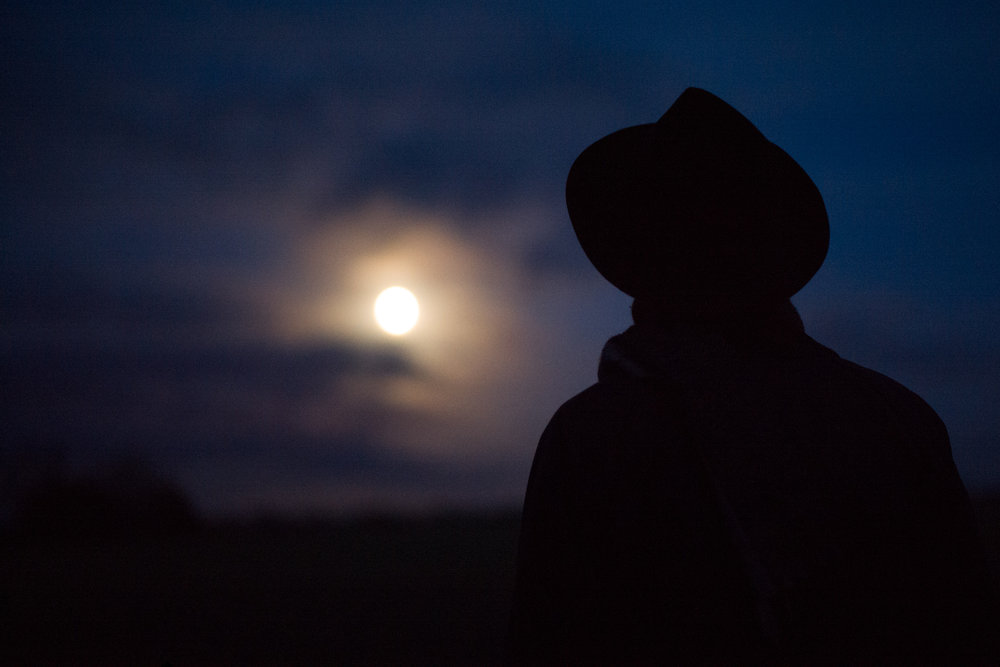 Hat and Moon - Leica M10 with 50mm Summilux M Asph. 1/125th ISO 8,000