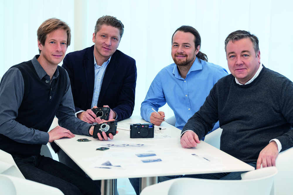 The M10 design team with product manager Stefan Daniel (far right)