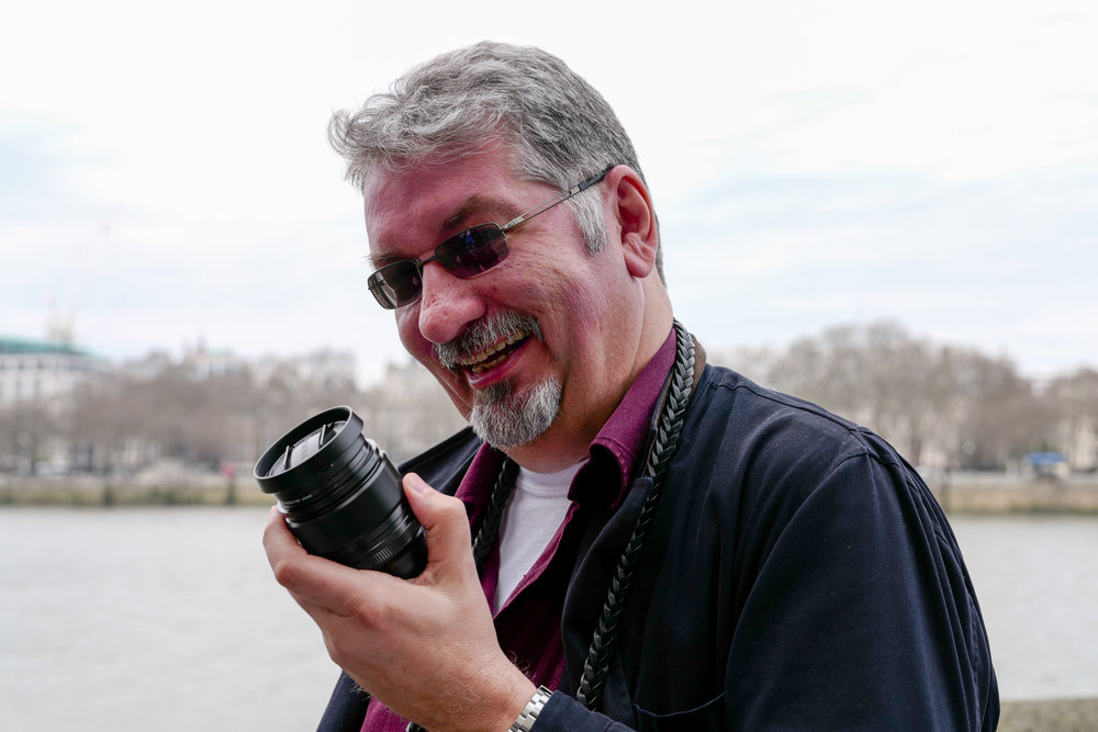 Our resident Fuji expert, Bill Palmer, gets excited over the latest Fujinon lens. Leica SL and 24-90mm Vario-Elmarit. (Photo Mike Evans)