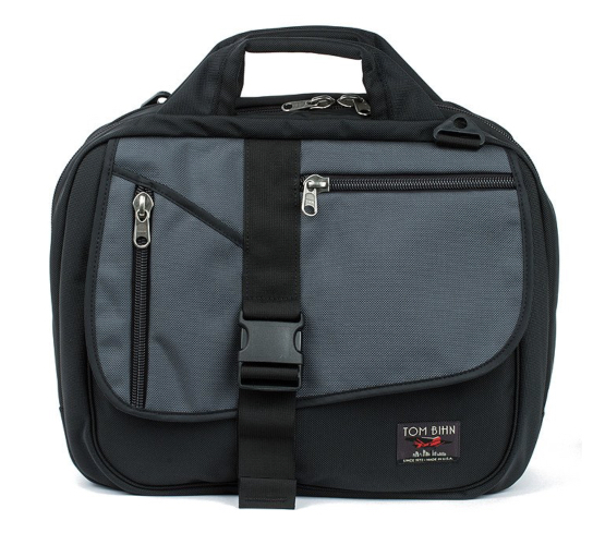 The Tom Bihn Empire Builder is an ingeniously clever messenger-stye travel bag. It can use the same Absolute Shoulder Straps that clips to the Ristretto