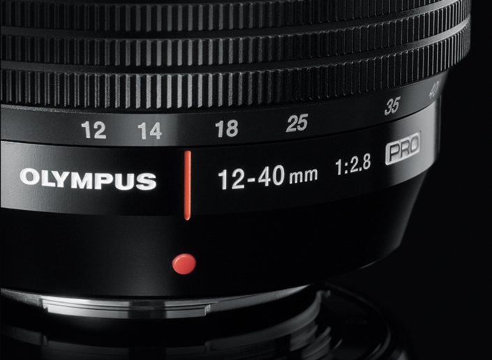 The M.Zuiko 12-40mm (24-80mm equivalent f/2.8 Pro is a wonderful lens which weighs only 382g. For the same quality, expect a similar lens for a larger sensor system to be much heavier (image Olympus)