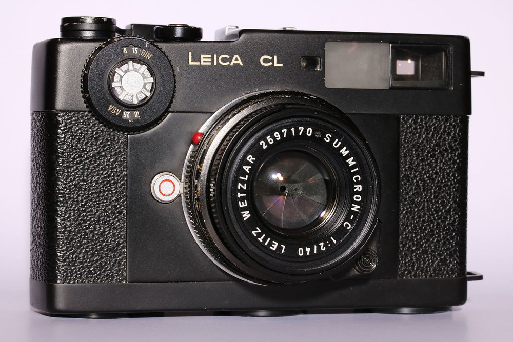 Leica CL with 40mm Summicron (this is a used example, not one of the boxed cameras)