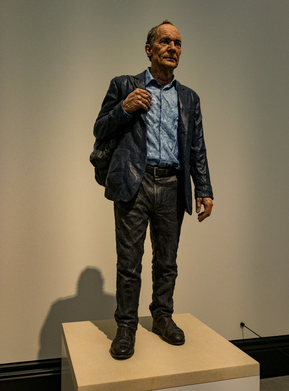Master of the Web: Tim Berners-Lee at the National Portrait Gallery in London. The GM1 with the 12-32mm pancake zoom makes a discreet snapper to keep in your pocket. Here at 35mm equivalent