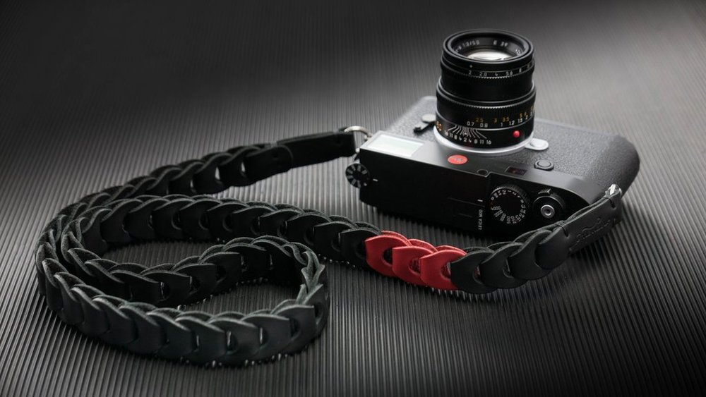 The Rock n' Roll M10 Limited Edition leather link strap is designed for Leica's new toy — a slim strap for a slim camera