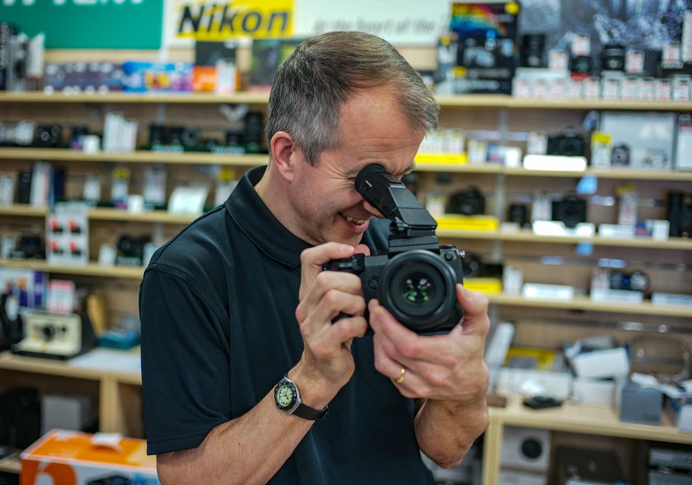 The new Fuji GFX is one of the camera systems you can now rent from Hirecamera.com (Photo Mike Evans, Leica M10 and 35mm Summilux-M, taken at a Fuji open day at Chiswick Camera Centre)