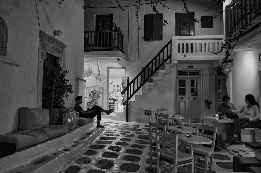 Night shot at ISO 800 in Mykonos with the little Ricoh