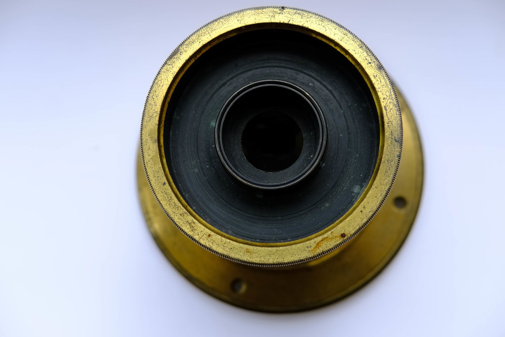 Grubb Aplanatic landscape lens c1855 showing 'washer stop' by William Fagan