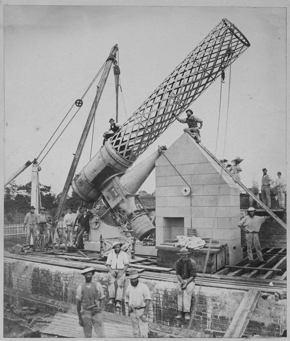 Construction of Great Melbourne Telescope (Museums Victoria)